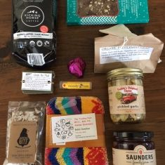 Contents of the Gift Bag - all local items